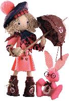 """Текстильная каркасная кукла """"Шоколадница бэби"""""""