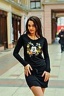 Женское модное платье-туника 1715 / черное