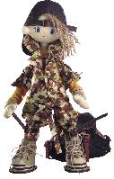 """Текстильная каркасная кукла """"Сафари. Брат 2"""""""