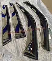 Дефлекторы окон (ветровики) COBRA-Tuning на MAZDA 323 PROTG SD 1998-2000