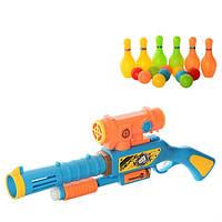 Детское игрушечное оружие 648-16: ружье 54,5 см, 10 шариков, 6 кегль, пластик, для детей с 6 лет