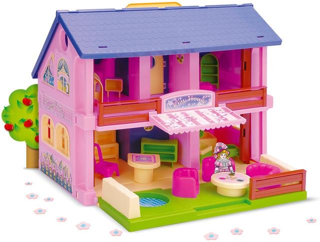 Игрушечный домик для девочек пластмассовый