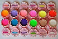 Набор Цветные гели  УФ яркие матовые Canni Youth  по  5мл 12 шт