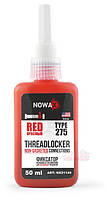 Герметик резьбовых соединений NOWAX THREADLOCKER RED ✔ цвет:красный ✔ 50мл.