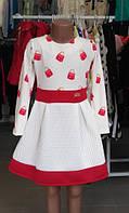 Стильное детское платье на девочку  116 см, 122 см, 128 см, 134 см производитель Польша