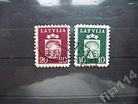 2 стандартные марки Латвия