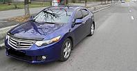 """Дефлектор капота Honda Accord 2008 и выше (европ. сборка) """"SIM"""" темный"""