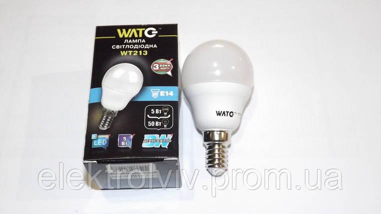 LED лампа шар 5 W ,4000К, Е14, 410Lm, фото 2