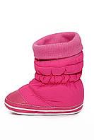 Зимняя пинетка носочек на резиночке розовые