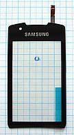 Тачскрин сенсорное стекло для Samsung S5620 Monte black