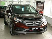 """Дефлектор капота Honda CR-V IV 2012 и выше """"SIM"""" темный"""