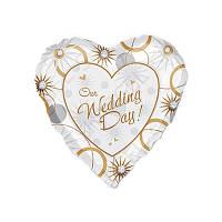 """Фольгированное сердце """"День нашей свадьбы"""""""