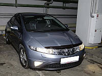 "Дефлектор капота Honda Civic 2006-2011 хеч 5D ""SIM"" темный"