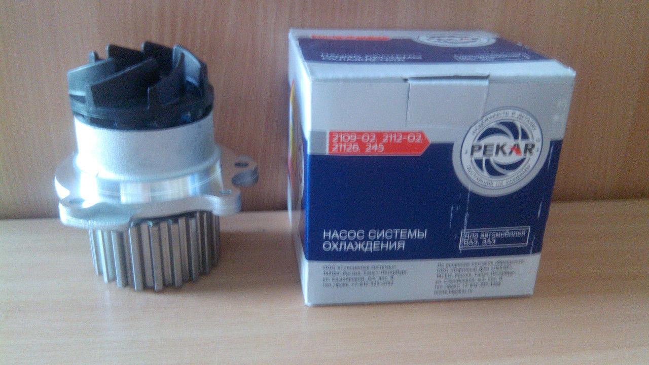 Насос водяной ВАЗ 2112 (без упаковки)(пр-во ПЕКАР) с прокладкой