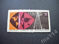 Марка Куба 1969 радио карта н/гаш