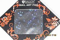 Фольга  для литья и дизайна ногтей в листе серебро галлография