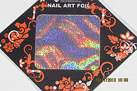 Фольга  для  литья и дизайна ногтей в листе . Радуга голография