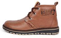 Ботинки мужские кожаные зимние Clarks Urban Tribe brown, Коричневый, 41