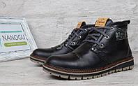 Ботинки мужские кожаные зимние Clarks Urban Tribe black, Черный, 40