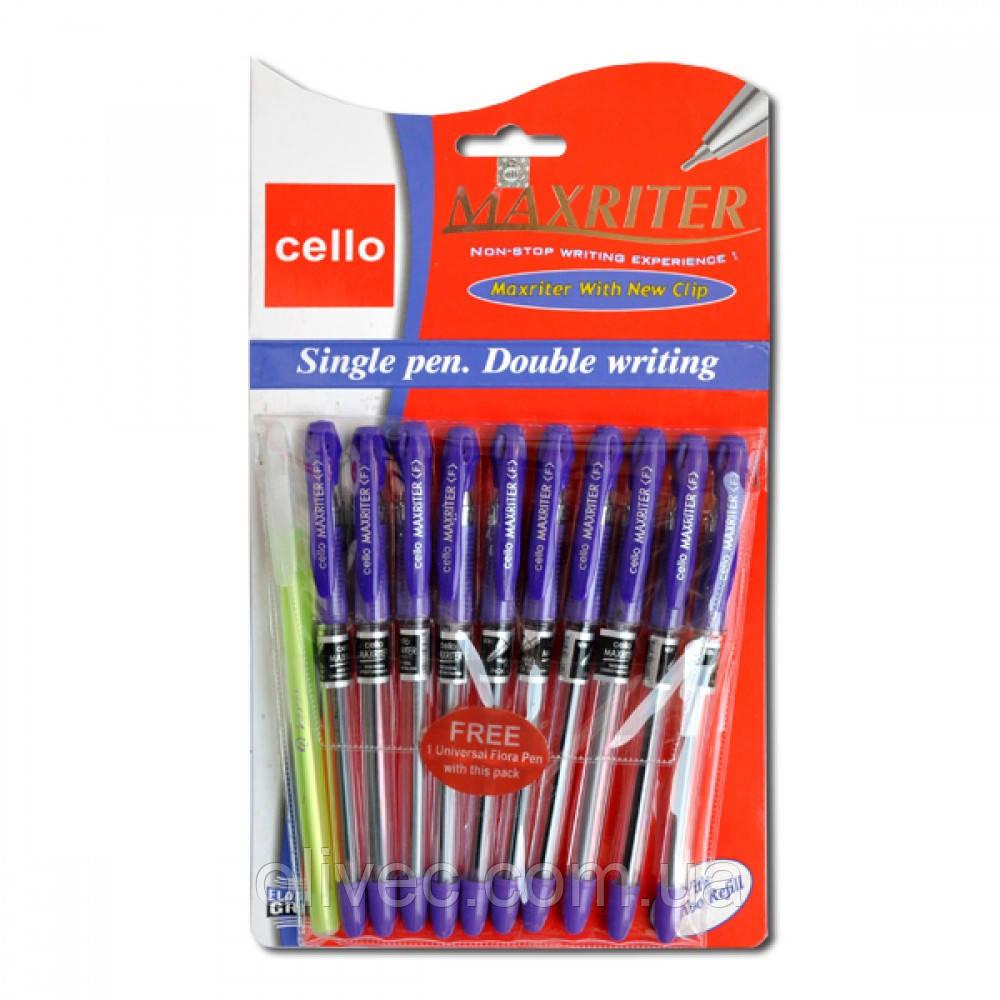 """Ручка шариковая """"Cello Maxriter F"""" дубликат, синяя"""