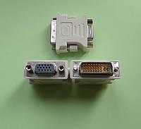 Переходник гнездо VGA на штекер DVI-I