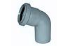Колено ПВХ диаметр 50 х 67*
