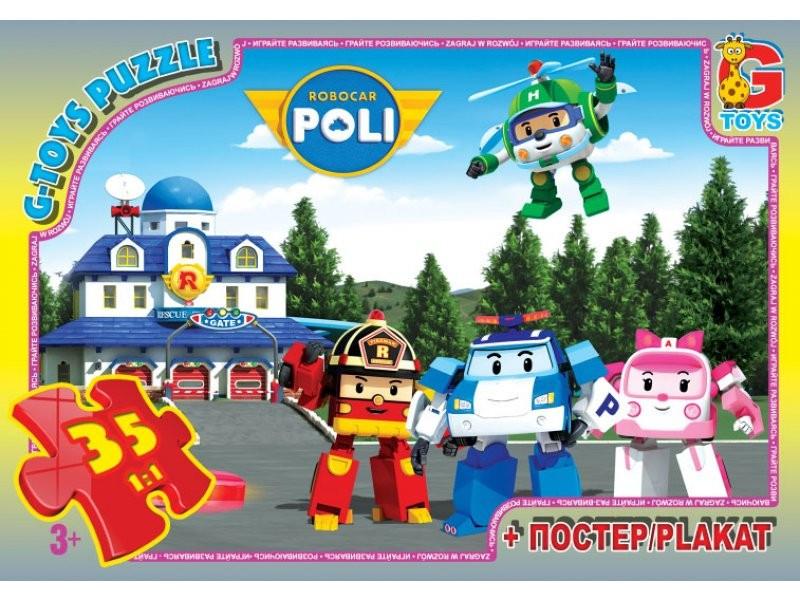 Пазлы Робокар Полли 35 элементов G-Toys
