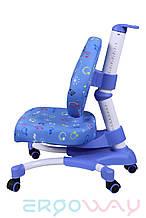Детское компьютерное ортопедическое кресло растишка Ergoway M350 blue