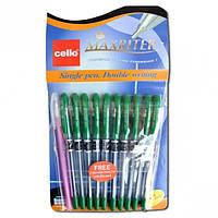 "Ручка шариковая ""Cello Maxriter F"" дубликат, зеленая"