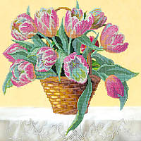 """Схема для вышивания бисером """"Корзина тюльпанов"""""""