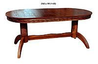 Деревянный стол Альфа (Бук) раскладной