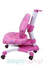 Детское компьютерное ортопедическое кресло растишка Ergoway M350 pink