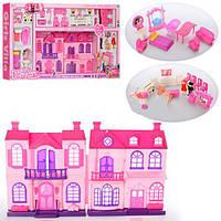 Детский кукольный домик 668-7A Girls Villa, звуковые и световые эффекты, 4 фигурки, на батарейках