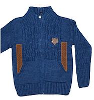 Модная теплая кофта для мальчика трикотаж вязка