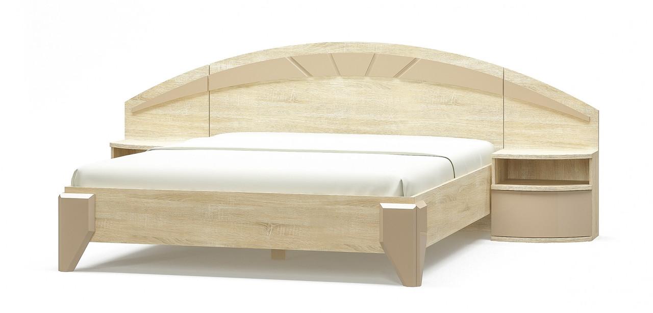 Аляска двуспальная кровать Мебель-Сервис 1012х2072х1704 мм