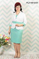 Костюм с платьем льняной  больших размеров  р.48-58, фото 1