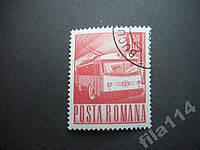 Марка Румыния 1971 тролейбус