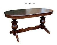 Стол обеденный раздвижной деревянный Винтаж