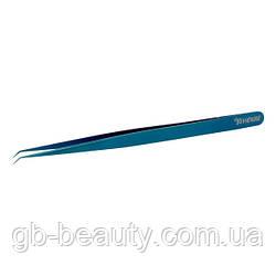 Пинцет Vivienne тонкий мини L, (синий металлик)