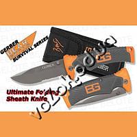 Туристический складной нож Gerber Bear Grylls Folding Sheath Knife 31-000752 с чехлом копия
