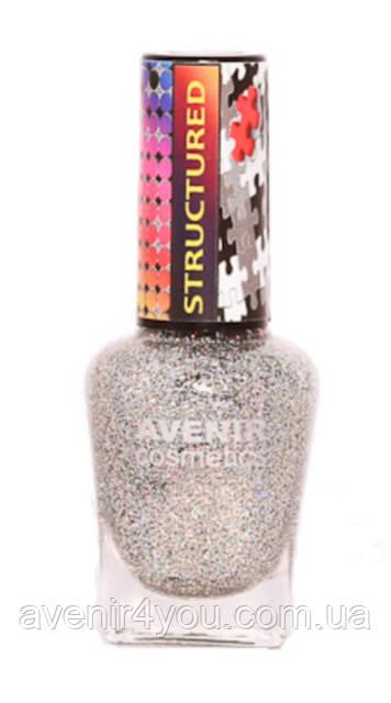 Лак для ногтей. №41 серебряная блестка с разноцветными вкраплениями
