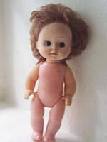 Игрушка СССР  Кукла голыш с волосами.  27 см.