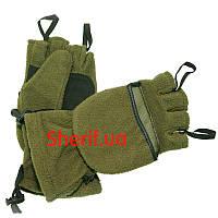 Флисовые теплые зимние перчатки-варежки MIL-TEC 12546001 L/XL