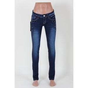 Женские джинсы узкие с потертостью (25-30размеры )