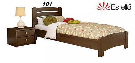 Кровать Венеция Люкс односпальная Бук Щит 101 (Эстелла-ТМ), фото 2