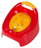 Детский музыкальный горшок Лягушка Frog Tega Baby, красный