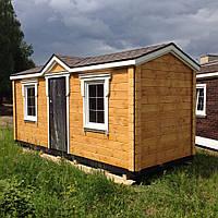 Садовый домик с отделкой из фальш бруса