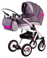 Детская коляска универсальная Aspena Rainbow Deluxe Adamex, pink