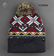 Шапка (зимняя, с помпоном) Staff - Art. KS0004 (разные цвета)