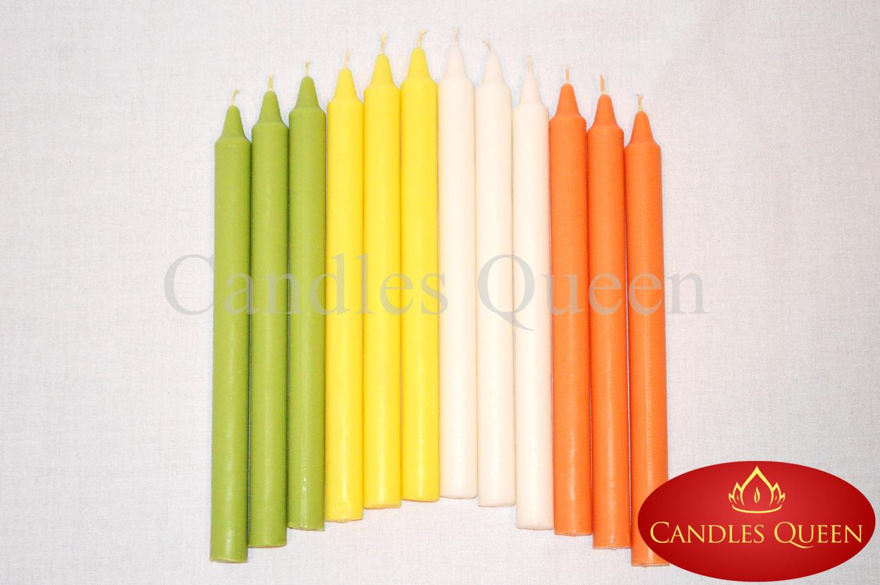 Свеча столовая оранжевая 240х20 мм